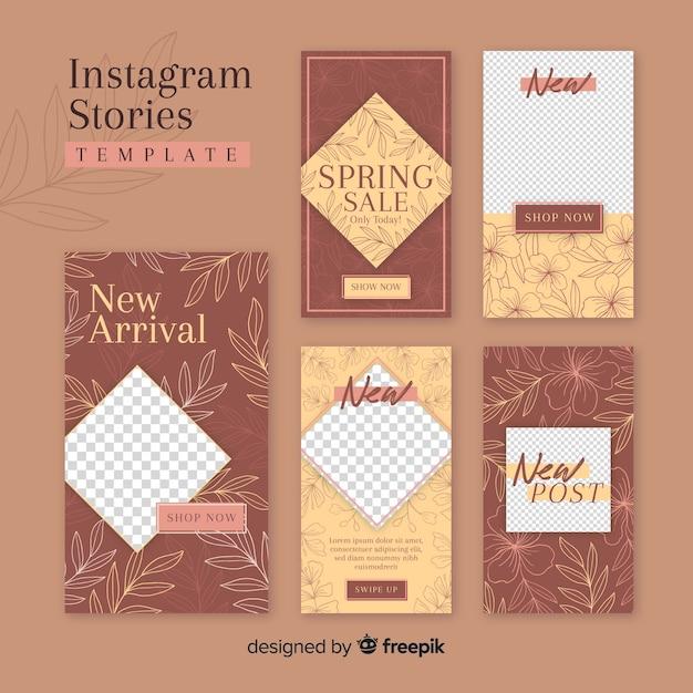 Instagram-geschichtenvorlage mit leerem rahmen Kostenlosen Vektoren