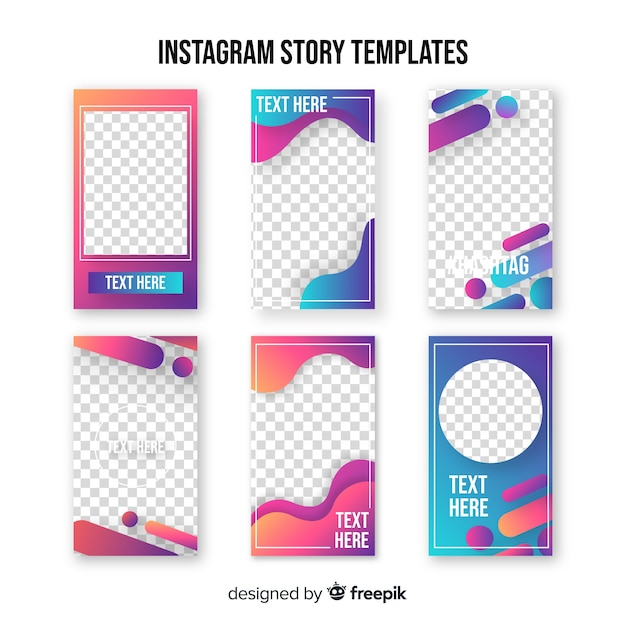 Instagram Geschichtenvorlage Kostenlose Vektoren