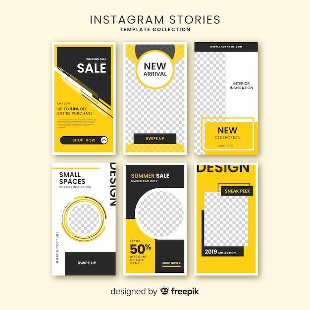 Instagram geschichtenvorlage Kostenlosen Vektoren