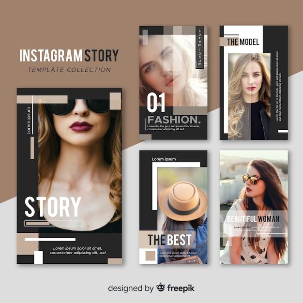 Instagram geschichtenvorlagen Kostenlosen Vektoren