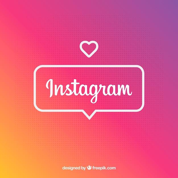 Instagram-hintergrund in den steigungsfarben Kostenlosen Vektoren