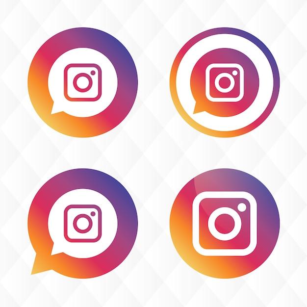 Instagram Icondesign Kostenlose Vektoren