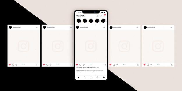 Instagram karussell-oberfläche Premium Vektoren