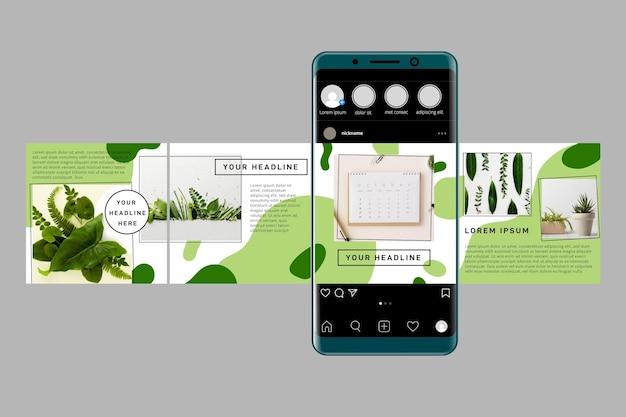 Instagram karussell vorlagen Kostenlosen Vektoren