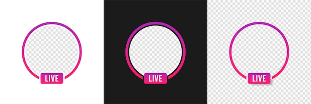 Instagram live video-streaming, frame-modell Premium Vektoren