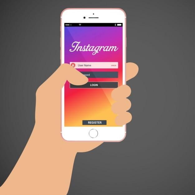 Instagram login seite Kostenlosen Vektoren
