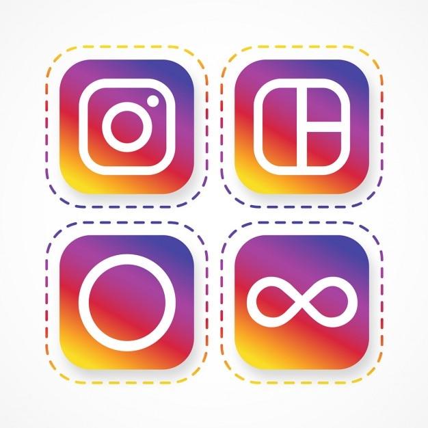 Instagram-logo pack Kostenlosen Vektoren