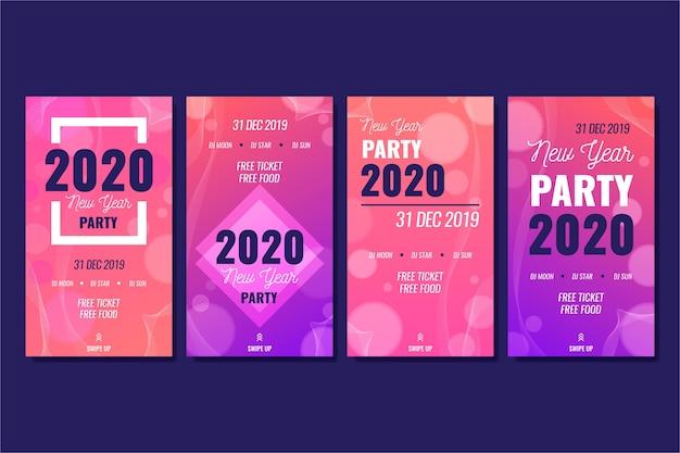 Instagram-partygeschichtensammlung des neuen jahres Kostenlosen Vektoren