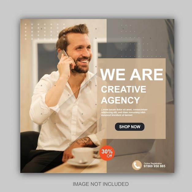 Instagram post vorlage für kreativagenturen Premium Vektoren