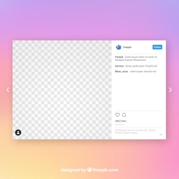 Instagram Post Vorlage | Download der kostenlosen Vektor