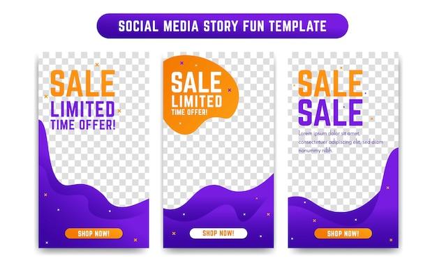 Instagram social media story design-vorlage Premium Vektoren