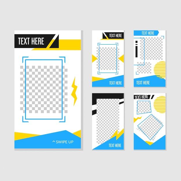 Instagram story template design Premium Vektoren