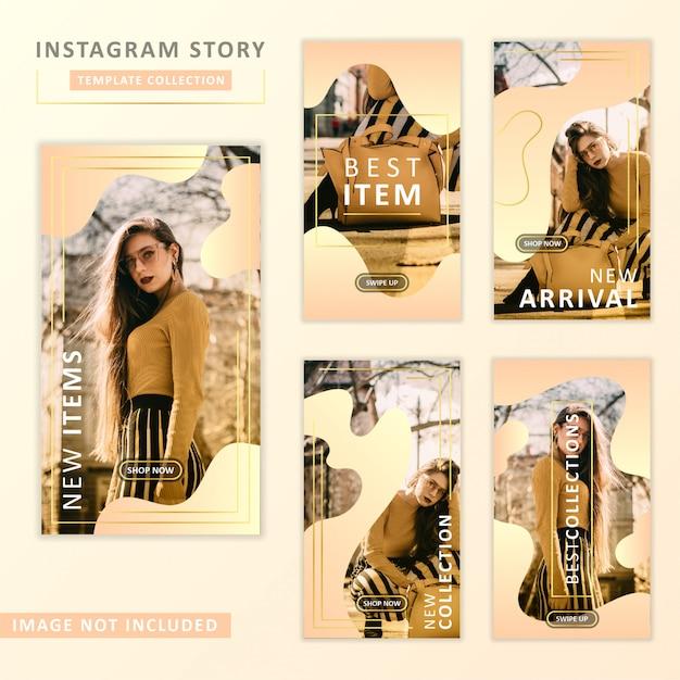 Instagram story template sammlung Premium Vektoren