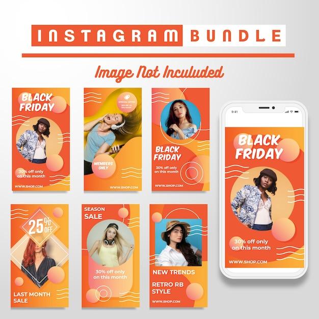 Instagram story-vorlage für kreativen rabatt Premium Vektoren
