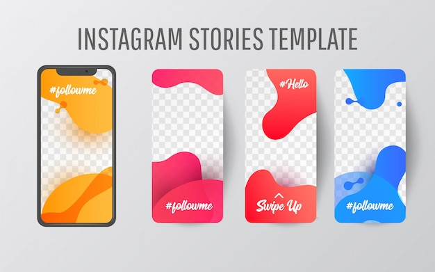 Instagram story-vorlage für social media Premium Vektoren