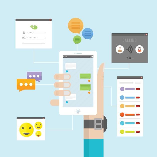 Instant messaging Premium Vektoren