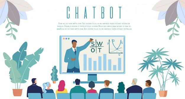 Intellektueller chatbot service web banner Premium Vektoren