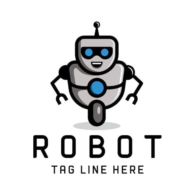 Intelligente roboter-logo-vorlage Premium Vektoren