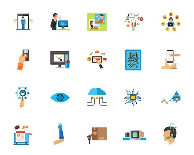 Intelligente technologie-icon-set Kostenlosen Vektoren