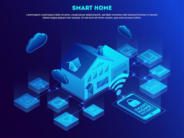Intelligentes zuhause. Premium Vektoren