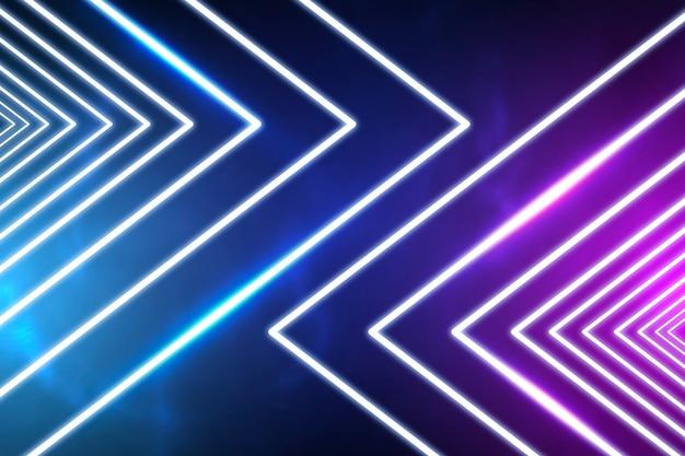 Intensiver neonlichthintergrund Kostenlosen Vektoren