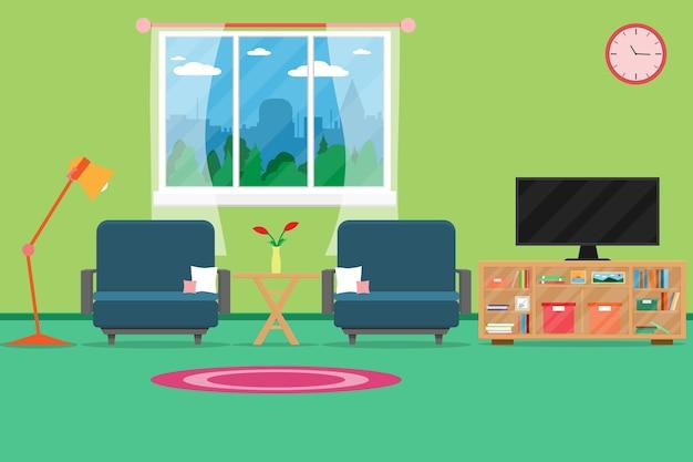 Interieur Wohnzimmer Modernen Gemütlichen Und Luxuriösen Stil Premium  Vektoren