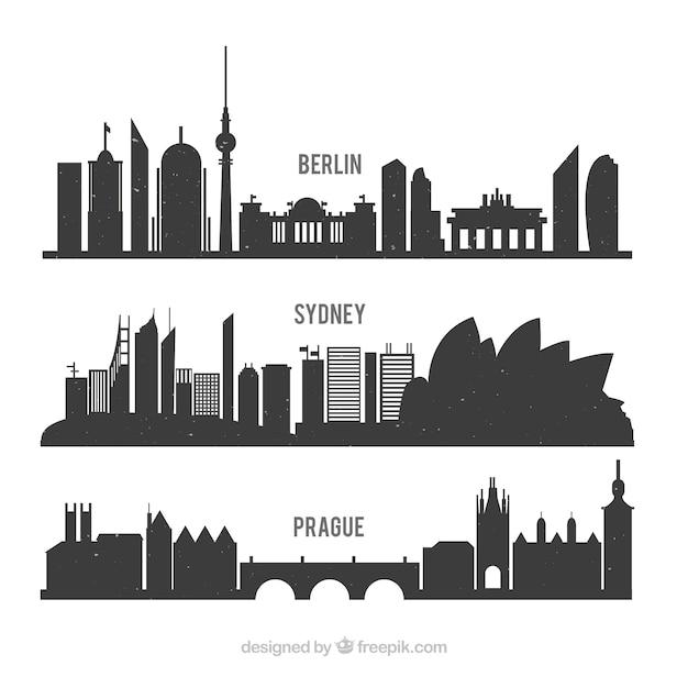 Internationale silhouetten packen Kostenlosen Vektoren
