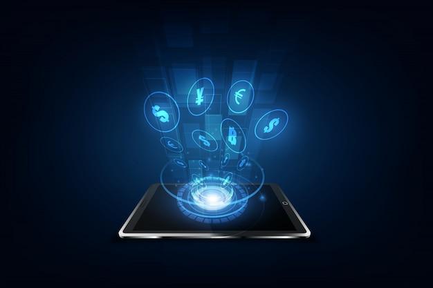 Internationale überweisung, bezahlung über ein smartphone mit einem smartphone Premium Vektoren