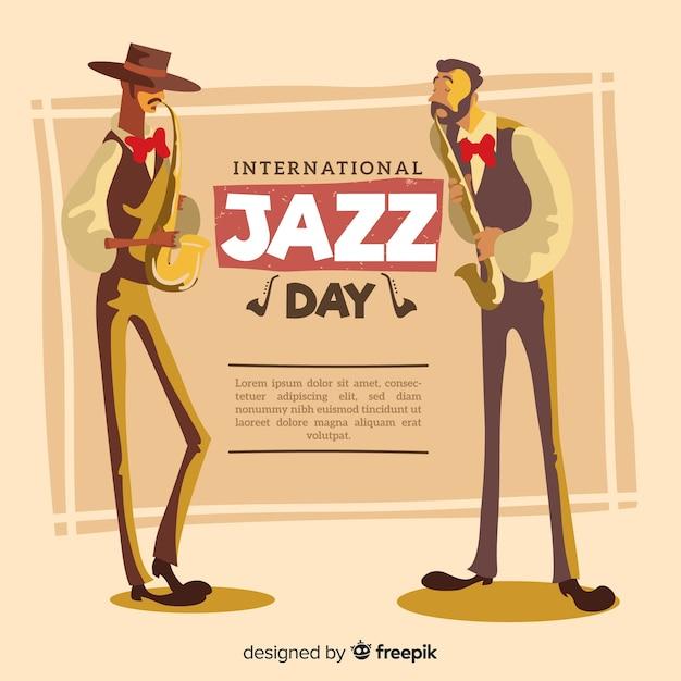 Internationaler jazztag Kostenlosen Vektoren