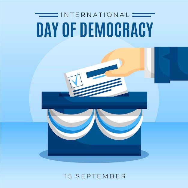 Internationaler tag der demokratie abstimmung idee Kostenlosen Vektoren