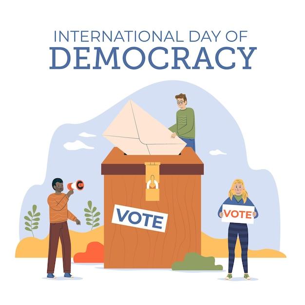 Internationaler tag der demokratie Kostenlosen Vektoren
