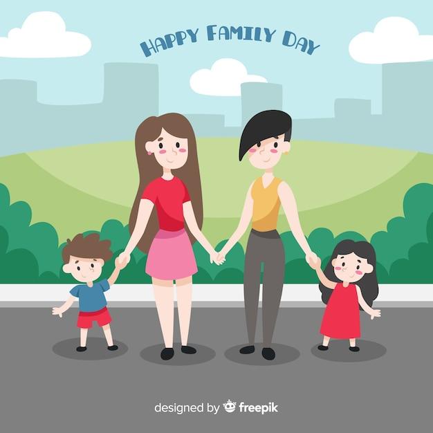 Internationaler tag der familien Kostenlosen Vektoren