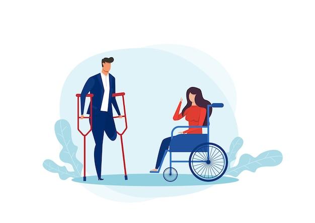 Internationaler tag der menschen mit behinderung illustration Premium Vektoren