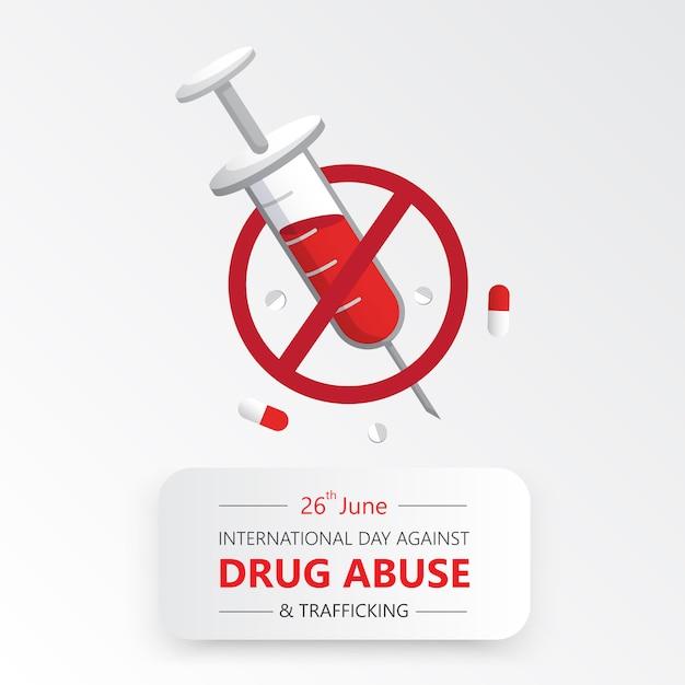 Internationaler tag gegen drogenmissbrauch Premium Vektoren