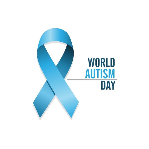 Internationaler tag zum bewusstsein von autismus Premium Vektoren