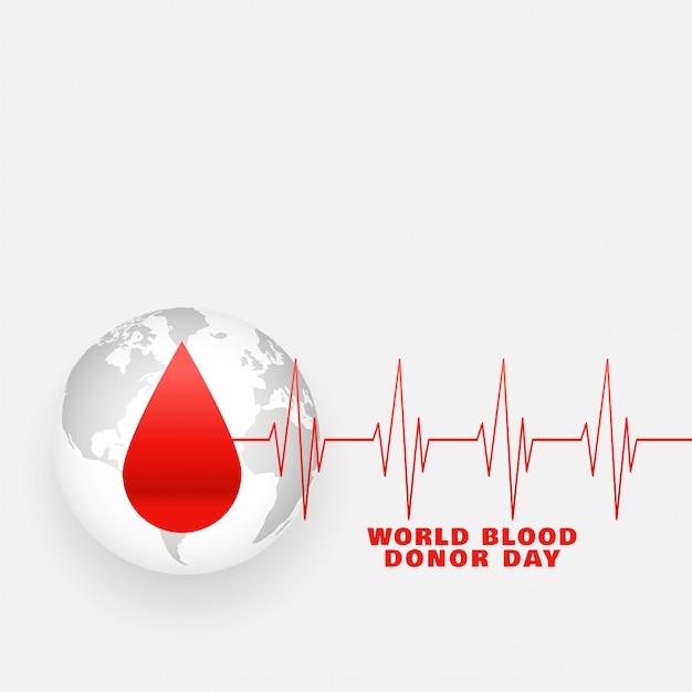 Internationales weltblutspender-tagesplakat Kostenlosen Vektoren