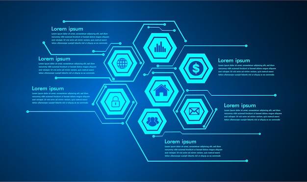 Internet der dinge cyber-schaltungstechnologie Premium Vektoren