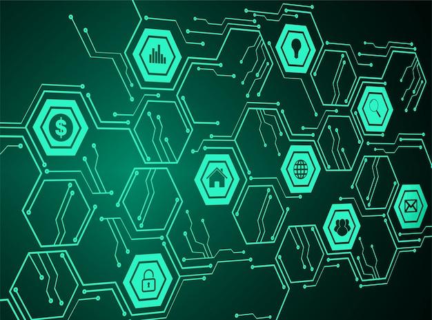 Internet der dinge cyber-technologie Premium Vektoren