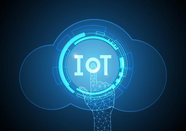 Internet der dinge technologie kreis cloud point. iot Premium Vektoren