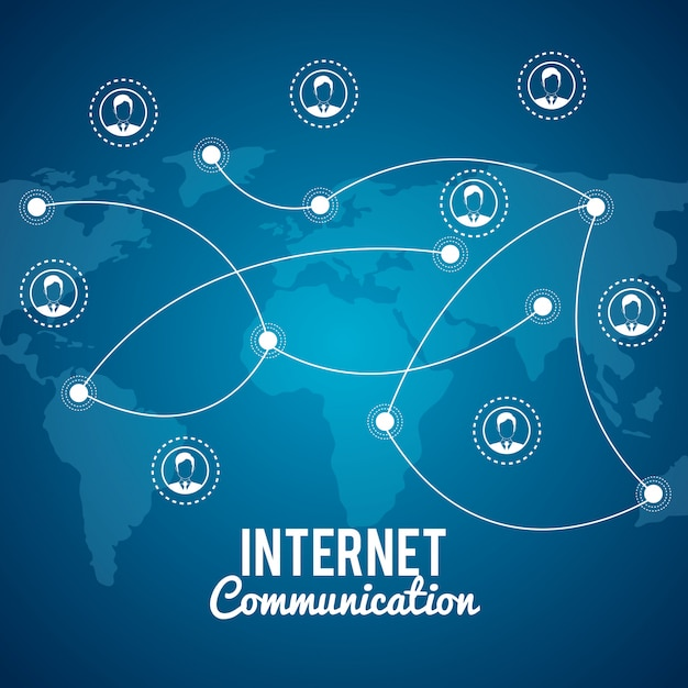 Internet-kommunikation Kostenlosen Vektoren
