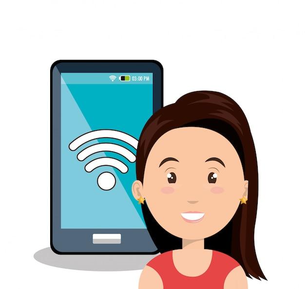 Internet-kommunikationstechnologie isoliert symbol Premium Vektoren