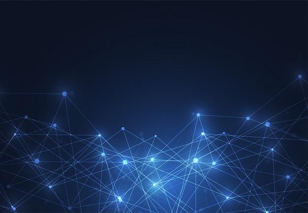 Internetanschluss, abstrakter wissenschaftssinn Premium Vektoren