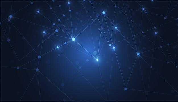 Internetanschluss-zusammenfassungsrichtung des wissenschaftshintergrundes Premium Vektoren