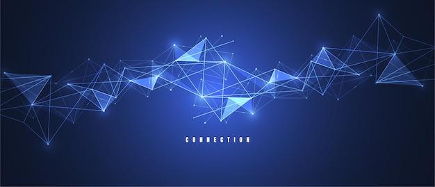 Internetverbindung abstrakten sinn für wissenschaft Premium Vektoren