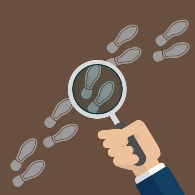 Investigation hintergrund-design Kostenlosen Vektoren