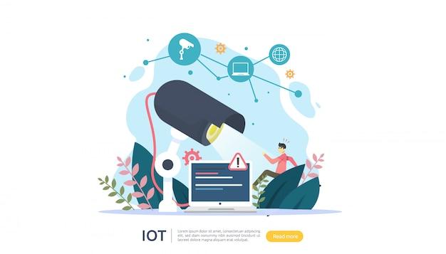 Iot internet der dinge Premium Vektoren