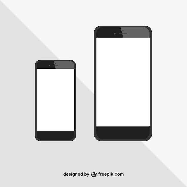Iphone größen vektor Kostenlosen Vektoren