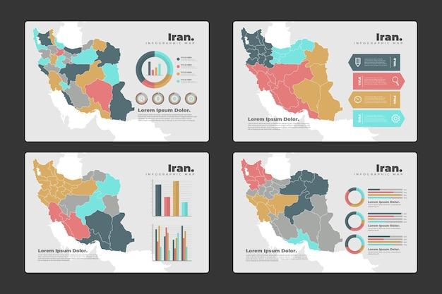 Iran karte infografiken Kostenlosen Vektoren