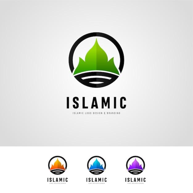 Islamic logo design Premium Vektoren