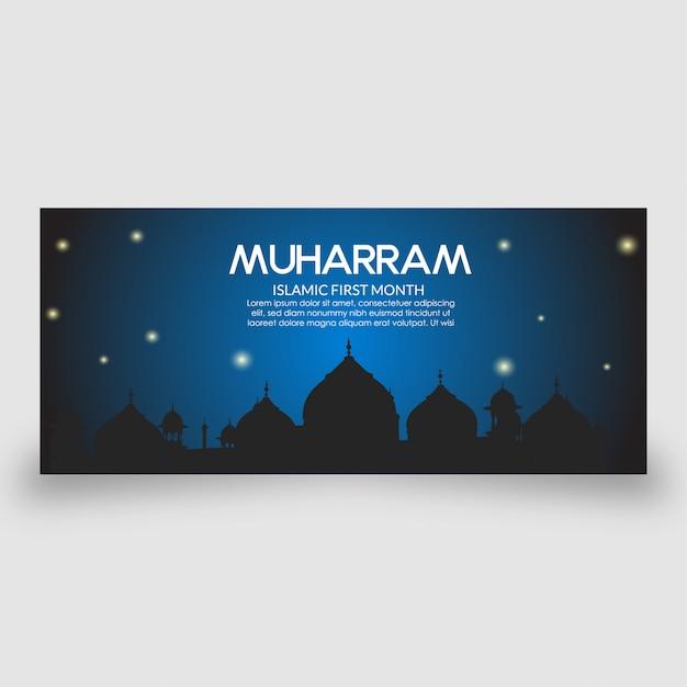 Islamische banner vorlage Premium Vektoren